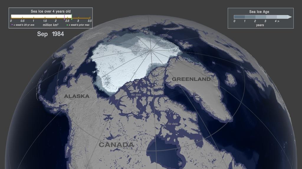 Calotte glacière arctique en 1984